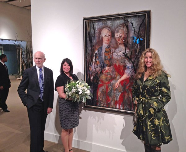 Ingrid Dee Magidson with her art at the Hermitage Museum Foundation Dinner in Sothebys New York