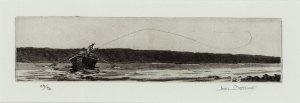 Joel Ostlind, Castaway etching